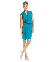 Evan-Picone Ivp Drapeneck Wrap Dress