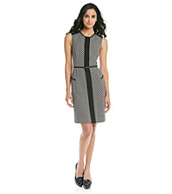 Evan-Picone Collection Print Belted Dress