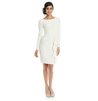 Jessica Howard Crepe Cascade Dress
