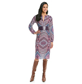 Anne Klein® Petites' Kaleidoscope Print Dress