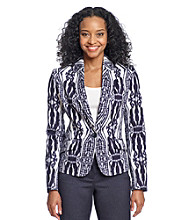 Jones New York Signature® Petites' Fitted Long Sleeve Blazer