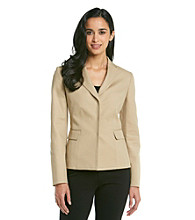 Jones New York Signature Petites' Fitted Blazer With Embroidery Stitching