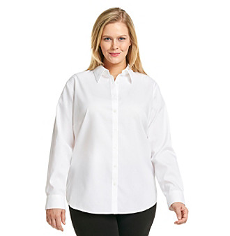 Jones New York Signature Plus Size Shirt Women's