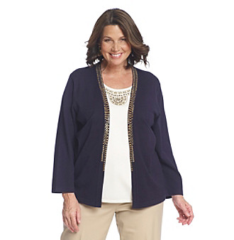 Alfred Dunner® Plus Size Layered-Look Sweater