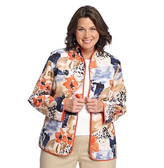 Alfred Dunner® Plus Size Floral Quilt Jacket