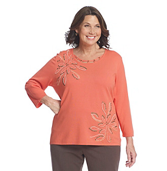 Alfred Dunner® Plus Size Floral Sweater
