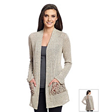 Blu Pepper™ Marled Lace Detail Cardigan