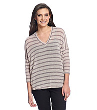 Blu Pepper™ Striped V-neck Pullover Sweater