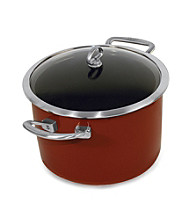 Chantal® 4qt. Chili Red Enamel Dutch Oven or Risotto Pan with Lid