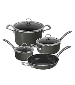 Chantal® 7-pc. Onyx Enamel with Copper Fusion™ Cookware Set