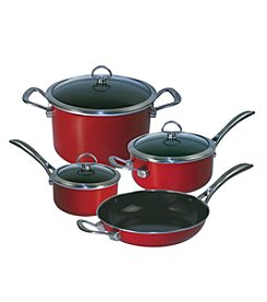 Chantal® 7-pc. Chili Red Enamel with Copper Fusion™ Cookware Set
