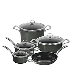 Chantal® 9-pc. Onyx Enamel with Copper Fusion™ Cookware Set