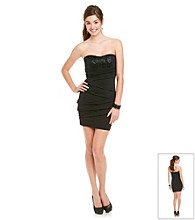 Ruby Rox® Juniors' Black Sequin Tube Dress