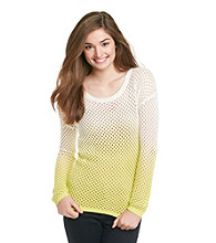 Pink Rose® Juniors' Ombre Open Weave Sweater