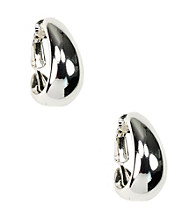 Anne Klein® Silvertone Clip Earrings