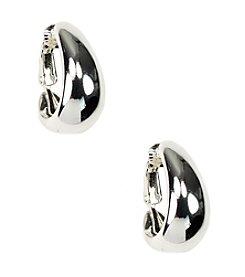 Anne Klein® Silvertone Clip Earrings