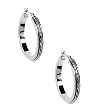 Anne Klein® Silvertone Hoop Earrings