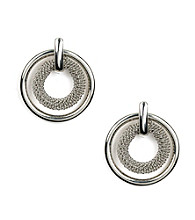 Anne Klein® Silvertone Circle Drop Earrings
