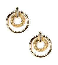 Anne Klein® Goldtone Circle Drop Earrings