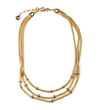 Anne Klein® Goldtone Three Row Necklace