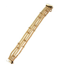 Anne Klein® Goldtone Multi Row Bracelet