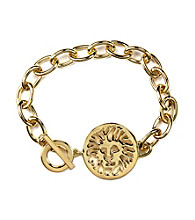 Anne Klein® Goldtone Gold Lion Bracelet