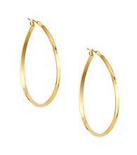 Anne Klein® Goldtone Pear Hoop Earrings