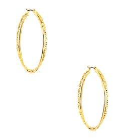 Anne Klein® Goldtone Hoop Earrings
