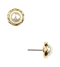 Anne Klein® Goldtone Pearl Earrings