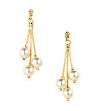 Anne Klein® Goldtone Pearl Drop Earrings