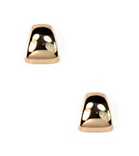 Anne Klein® Goldtone Button Earrings