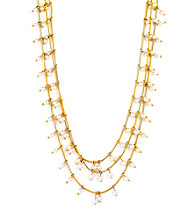 Anne Klein® Goldtone Three Row Pearl Necklace