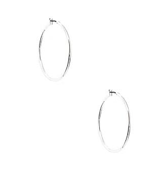 Anne Klein® Silvertone Hoop Earrings
