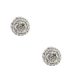 Anne Klein® Silvertone Fireball Stud Earrings