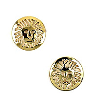 Anne Klein® Goldtone Lion Earrings