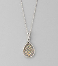 Sterling Silver and 14K Gold Filigree Pendant