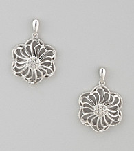 Diaura Floral Earrings in Sterling Silver