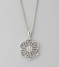 Diaura Floral Pendant Necklace in Sterling Silver