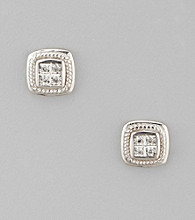 Diamond Accent Earrings in Sterling Silver