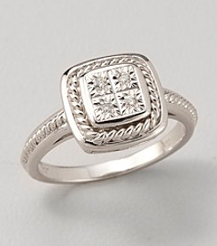 Diamond Accent Ring in Sterling Silver