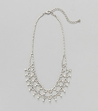 Studio Works® White/Silvertone Social Pearl Necklace