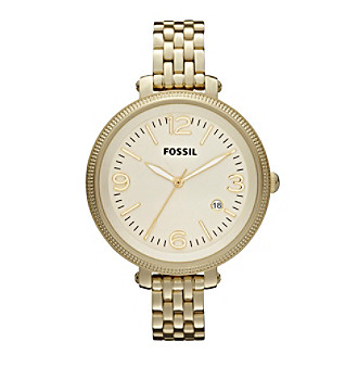 Fossil® Heather Brushed Goldtone with Champagne Dial Ladies' Dress Watch