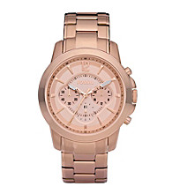 Fossil® Grant Rose Goldtone with Rose Dial Men's Dress Watch