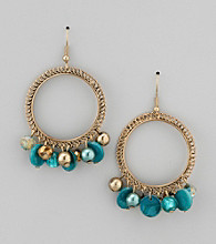 Erica Lyons® Turquoise Turquessa Drop Hoop Pierced Earrings
