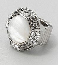 Erica Lyons® Mother of Pearl Stretch Ring