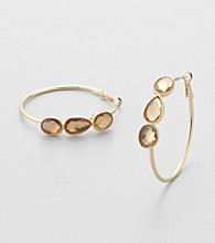 Erica Lyons® Light Colorado Hoopla Hoop Pierced Earrings