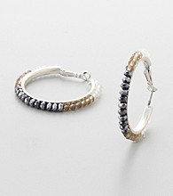 Erica Lyons® Natural Hoopla Hoop Pierced Earrings