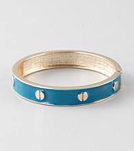 L&J Accessories Blue Epoxy Bangle Bracelet