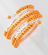 L&J Accessories Orange Wood Coil Bracelet