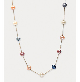 Effy® Freshwater Pearl Station Necklace